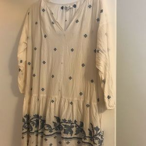 Madewell drop waist dress